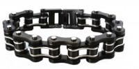 3/4 inches Wide Stainless Steel Motorcycle Bike Chain Bracelet for Men Gunmetal  FREE SHIPPING - Product Image