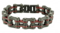 3/4 inches Wide Stainless Steel Motorcycle Bike Chain Bracelet for Men Gunmetal Firefighter FREE SHIPPING - Product Image