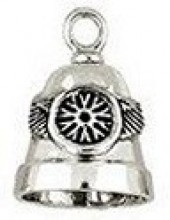 Sterling Silver  Motorcycle Wheel Ride Bell ®  - Product Image