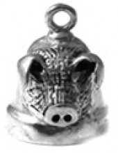 3-D  Ride Bell ®  Sterling Silver  Pig Head - Product Image