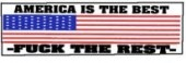 AMERICA IS THE BEST -FUCK THE REST- (American Flag) - Product Image
