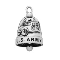 ARMY Two Sided Stainless Steel Motorcycle Ride Bell ® Military ARMY  FREE SHIPPING - Product Image