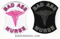 "BAD ASS NURSE Two Color Choices 3"" x 4""  FREE SHIPPING - Product Image"