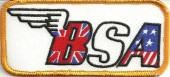"BSA Motorcycle Patch 2"" x 4 1/4""  FREE SHIPPING - Product Image"