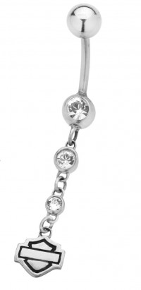 Body Jewelry Harley-Davidson ® Mod Jewelry® Dangle Three Crystal HDZ0056 - Product Image