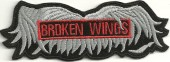 Broken WingsMotorcycle Biker PatchAvailable in 2 Sizes FREE SHIPPING - Product Image