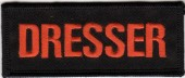 "DRESSER Motorcycle Biker Patch  1 1/2"" x 4""  FREE SHIPPING - Product Image"