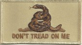 """Don't Tread On MeBiker Patch3 1/2 """" x 2""""FREE SHIPPING - Product Image"""