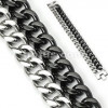 Men's Stainless Steel Dual Curb Link Bracelet  FREE SHIPPING