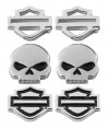 EARRINGS Harley-Davidson® Motorcycle Biker Sterling Silver 3 Piece Set Mod Jewelry® HDS0005
