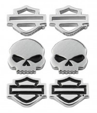 EARRINGS Harley-Davidson® Motorcycle Biker Sterling Silver 3 Piece Set Mod Jewelry® HDS0005 - Product Image