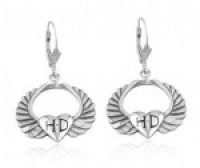 EARRINGS Mod's ® Sterling Silver Harley-Davidson ® Winged Heart HDHDE0000  - Product Image