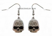 EARRINGS  Stainless Steel  Bling Skull  FREE SHIPPING - Product Image