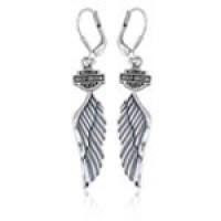 Earrings Harley-Davidson ® Women's Sterling Silver Angel Wing by Mod Jewelry ®HDE0126 - Product Image