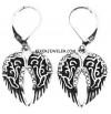 Ladies Biker Dangle Angel Wing Earrings Stainless Steel  FREE SHIPPING
