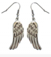 Earrings  Ladies  Long Dangle Angel Wing  Stainless Steel  FREE SHIPPING