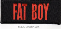 "FAT BOY  Motorcycle Biker Patch  1 3/4 "" x 4""  FREE SHIPPING - Product Image"