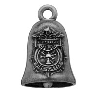 FIREFIGHTER Motorcycle Ride Bell Harley Davidson ® Mod Jewelry® FREE SHIPPINGHRB064 - Product Image