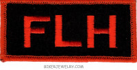 "FLH Motorcycle Biker Patch  1 1/2"" x 4"" FREE SHIPPING - Product Image"
