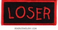 "LOSER Motorcycle Biker Patch  1 1/2 "" x 4"" FREE SHIPPING - Product Image"