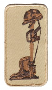 "Fallen SoldierMilitary Patch2 1/4""x 4""FREE SHIPPING - Product Image"
