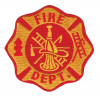 "Fire Department Biker Patch3 3/4"" x 3 3/4""FREE SHIPPING"