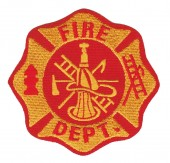 "Fire Department Biker Patch3 3/4"" x 3 3/4""FREE SHIPPING - Product Image"