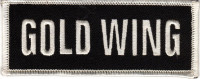 "GOLD WING  Motorcycle Biker Patch  1 1/2 "" x 4"" FREE SHIPPING - Product Image"