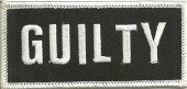"GUILTYBiker Patch3 1/2"" x 2""Available in 2 ColorsFREE SHIPPING - Product Image"