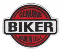 "Genuine Biker Made In USA  Biker Patch3 3/4"" x 2 3/4""FREE SHIPPING - Product Image"
