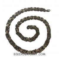 Gun Metal/ Black Stainless Steel  10mm Byzantine Men's Necklace  FREE SHIPPING - Product Image