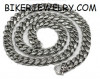 Heavy  Stainless Steel  Curb Link  Men's Necklace  30 inches FREE SHIPPING
