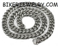 Heavy  Stainless Steel  Curb Link  Men's Necklace  30 inches FREE SHIPPING - Product Image