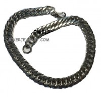 "Half an Inch Wide  Stainless Steel  Curb Link  Men's Necklace  24"" FREE SHIPPING - Product Image"