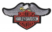 "Harley-Davidson ®  Logo With Eagle Harley ® Patch 5 1/4 "" x 3""FREE SHIPPING - Product Image"