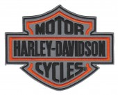 "Harley-Davidson ® Bar & Shield Reflector Harley ® Patch 5 1/4 "" x 4 1/4 ""FREE SHIPPING - Product Image"