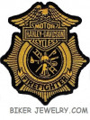 """Harley Davidson ® Firefighter  Harley ® Patch  4"""" x 3 1/2""""  FREE SHIPPING"""