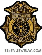 "Harley Davidson ® Firefighter  Harley ® Patch  4"" x 3 1/2""  FREE SHIPPING - Product Image"