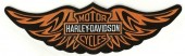 Harley Davidson ® Orange Winged Bar & ShieldHarley ® PatchAvailable in 2 SizesFREE SHIPPING - Product Image