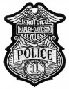 "Harley-Davidson® Police Patch #1 Badge 4"" x 3"" FREE SHIPPING"