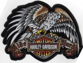 "Harley-Davidson ®Ride Hard / Eagle Harley ® Patch8"" x 6""FREE SHIPPING - Product Image"
