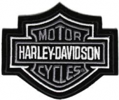 Harley-Davidson ® Grey Bar & Shield Logo Harley ® PatchAvailable in 3 SizesFREE SHIPPING - Product Image