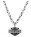 Harley-Davidson®  Stainless Steel  Bar and Shield Logo  Pendant and Necklace HSN0021