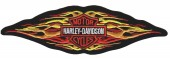 "Harley-Davidson ® Tribal Flames Harley ® Patch8 3/4 "" x 2 1/2 ""FREE SHIPPING - Product Image"