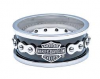 Harley Davidson®  Wedding Band  Stainless Steel  Bike Chain Ring  By MOD ® HSR0023