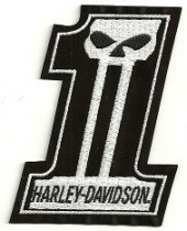 Harley-Davidson ®  Willie G Famous #1  Harley ® Skull Patch  Available in 2 Sizes  FREE SHIPPING - Product Image