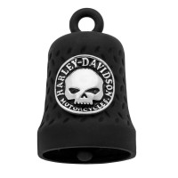 Harley-Davidson ® Mod Jewelry® Black Motorcycle Ride Bell ® Chrome Logo/Willie G.  FREE SHIPPING HRB079 - Product Image