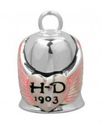 Harley Davidson ® Mod Jewelry® Pink Wings Ladies Motorcycle Ride Bell  FREE SHIPPINGHRB001 - Product Image