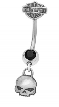 Harley-Davidson ® Motorcycle Willie G Dangling Navel Ring Body Jewelry Mod Jewelry® HDZ0033 - Product Image