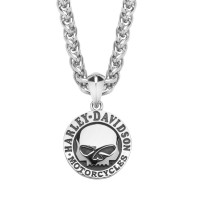 Harley-Davidson ® Stainless Steel Willie G Skull Necklace Mod Jewelry® HSN0042 - Product Image
